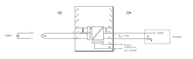 热电偶温度变送器(输出环路供电)